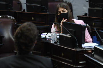 Sesi—n ordinaria remota del HonorableÊSenadoÊde la Naci—n en la que se tratar‡ la sanci—n de leyes que protejan los intereses de los argentinos y argentinas en lo que respecta al acceso a prestaciones sobre cuidados paliativos, prestaci—n de servicios de salud mediante el uso de tecnolog'as de la informaci—n y comunicaci—n, protecci—n de los derechos de los consumidores en la prestaci—n de servicios de telefon'a m—vil, convenios internacionales, concursos preventivos y quiebras, protecci—n de los adquirentes de bienes registrables, y derechos de las asociaciones de bomberos voluntarios, entre otros, elÊ15 de Octubre de 2020, en BuenosAires, Argentina. Foto:ÊLuciano Ingaramo Ê/COMUNICACIîN SENADO.